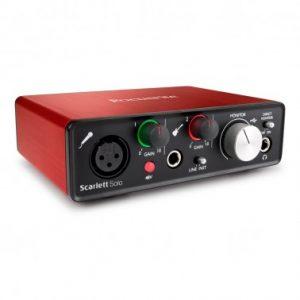 Focusrite Scarlett SOLO MKII - Interfaz de Audio