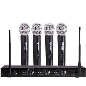 Gemini UHF04M - Sistema Inalambrico de Mano 4 Microfonos UHF