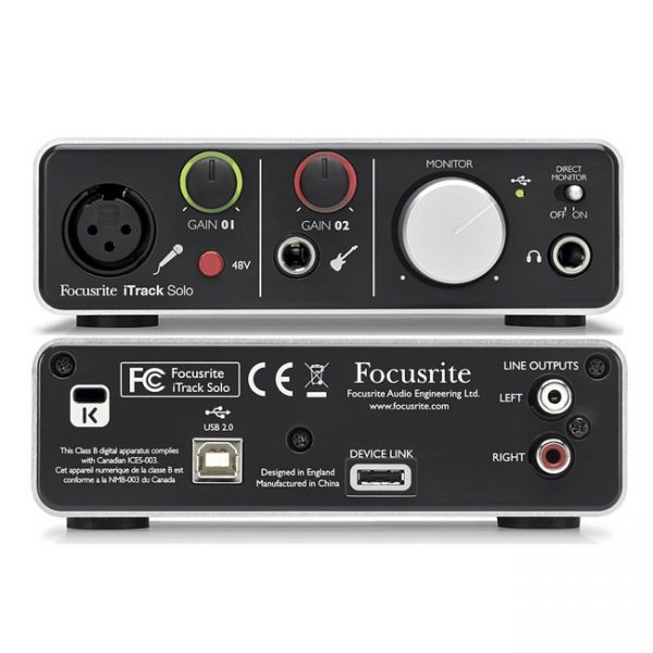 Focusrite iTrack Solo Lightning – Interfaz de Audio 1