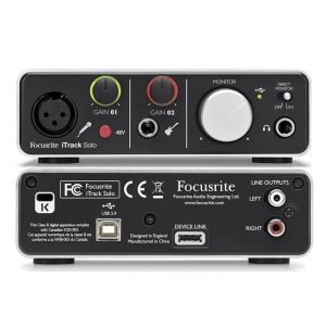 Focusrite iTrack Solo Lightning - Interfaz de Audio