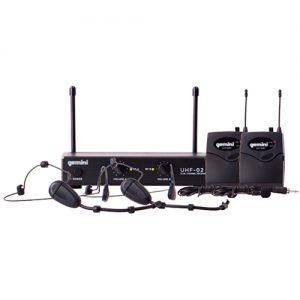 Gemini UHF02HL - Sistema Inalambrico de Cintillo Doble UHF