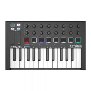 Arturia Minilab MK2 black edition, controlador MIDI con cuerpo de color negro